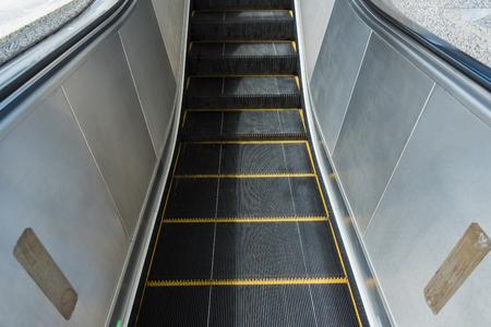 Subway escalators at Nonthaburi, Bangkok, Thailand 스톡 콘텐츠
