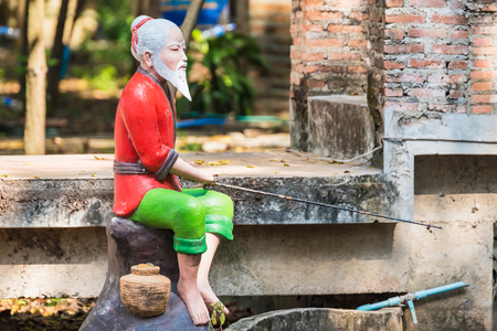 Chinese Dolls Garden Decoration in Thailand Banco de Imagens
