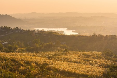 Moments before sunset at the hills.Thailand