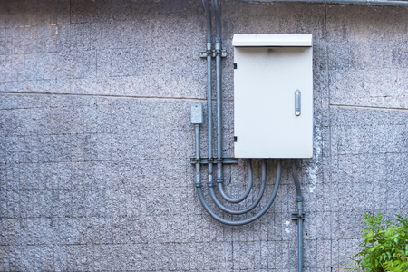 Outdoor electric control box.Thailand Stock Photo