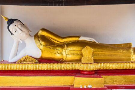 Reclining Buddha, White color, Ayutthaya