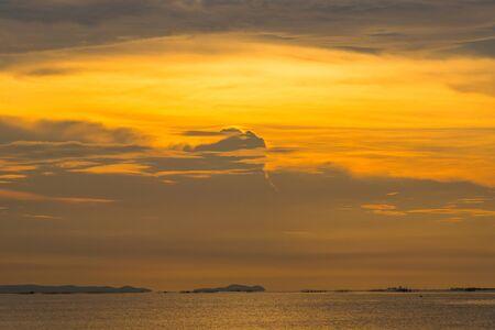 Sunset on the horizon in Pattaya, Thailand