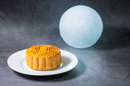 Delicious moon cake for Mid Autumn Festival.
