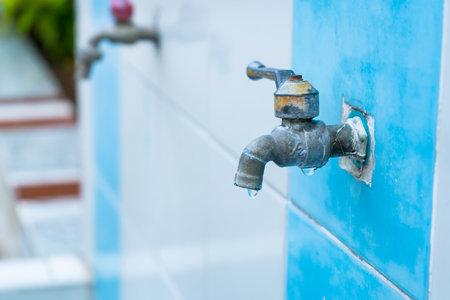 Water taps in a public school.Thailand.