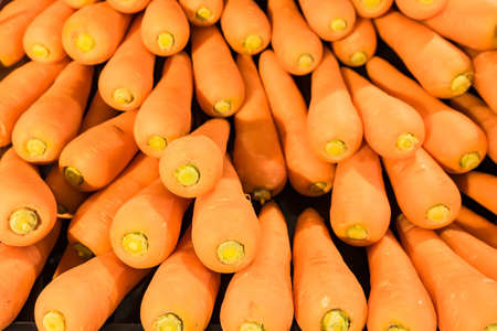 Carrot background, Vegetable in the market.