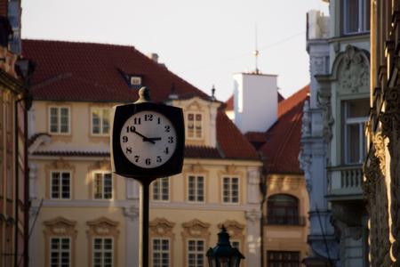 czech republic: Clock in Prague, Czech Republic
