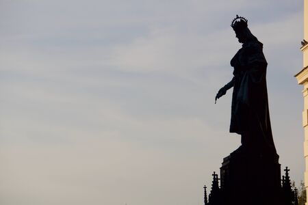 charles bridge: Charles Bridge King Statue - Prague, Czech Republic