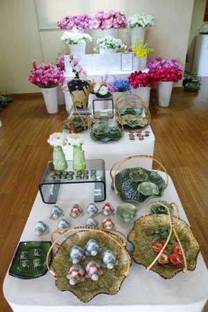 phra nakhon si ayutthaya: ceramic earthenware  shows in The exhibit at Bang Sai, Phra Nakhon Si Ayutthaya province,thailand