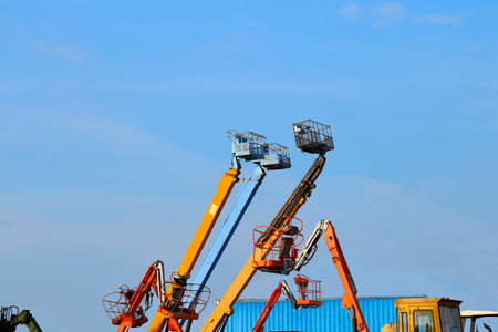 telescopic: The hydraulic telescopic boom lift,Thailand