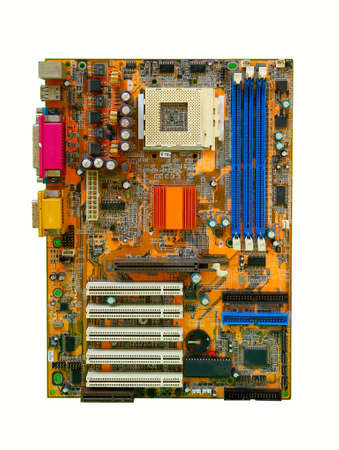 mainboard of computer pc Stock Photo