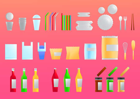 dozen: Packaging  icons vector for graphic or website layout vector Illustration