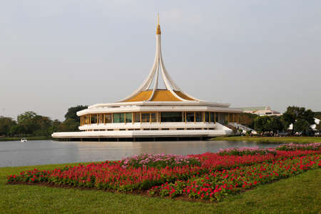 Thai Pavilion in the Garden for  Landscape Used or background Used , at King Rama IX Public  Park, Bangkok,Thailand