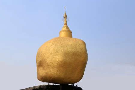 Golden Rock Mockup at  Wat Saman Rattanaram Temple, Chachoengsao Province, Thailand