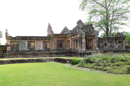 Prasat Muang Tam is a Khmer temple in Prakhon Chai district, Buri Ram Province, Thailand. Stock Photo
