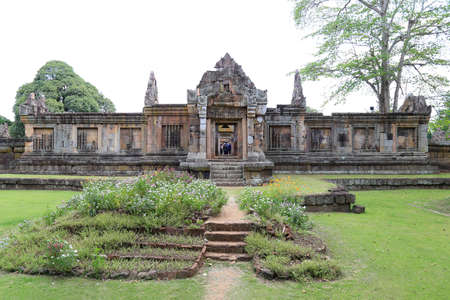 Prasat Muang Tam is a Khmer temple in Prakhon Chai district, Buri Ram Province, Thailand. Stock Photo