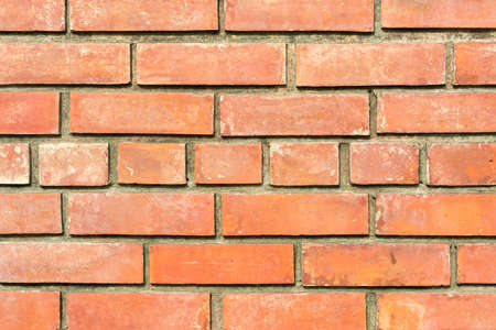 red brick: Background of red brick wall pattern texture.