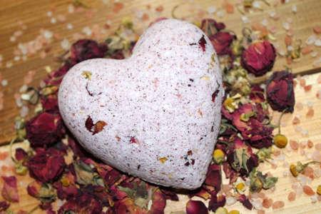 Rose and chamomile bath bomb