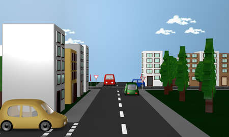 Road signs around the road sign.3d rendering