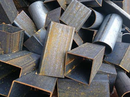 Scrap metal of iron and steel