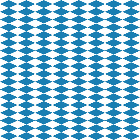 Seamless diamond pattern in blue white for the Oktoberfest. Vector file eps10