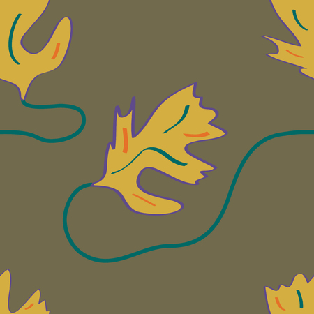 Seamless leaf pattern in autumn colors. Vector file eps 10 Standard-Bild - 114736233