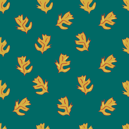Seamless leaf pattern in autumn colors. Vector file eps 10 Standard-Bild - 114736234