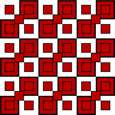 seamless pattern of squares in red, black, white. Vector file eps 10 Standard-Bild - 114736235