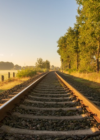 Railway track in soft light Standard-Bild - 109800622