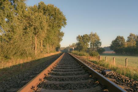 nostalgic rail track Location: Germany, North Rhine-Westphalia Standard-Bild - 109581702