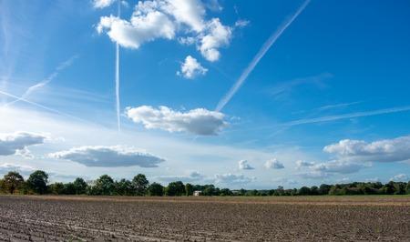 Peasantry with blue cloud sky. Location: Germany, North Rhine - Westphalia, Borken Standard-Bild - 110710867