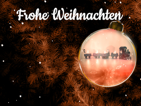 Merry Christmas. Merry Christmas. Christmas background with christmas tree and text Standard-Bild - 117804153