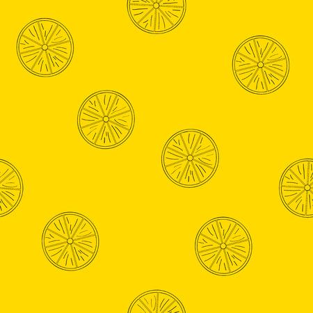 Seamless pattern of lemons. Vector file EPS 10