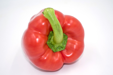 red pepper isolated from the front on white
