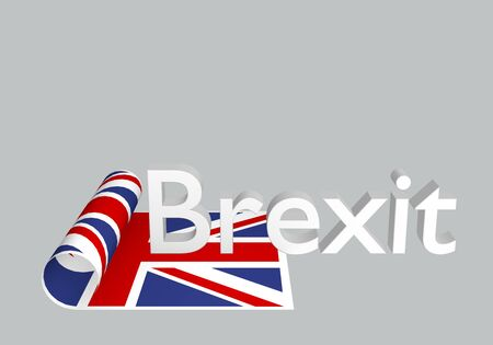 Leaving the United Kingdom from the EU. Brexit theme, 3d rendering. Stockfoto