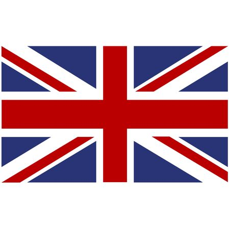 Flag of Great Britain. Vector file Eps 10 Standard-Bild - 130754968