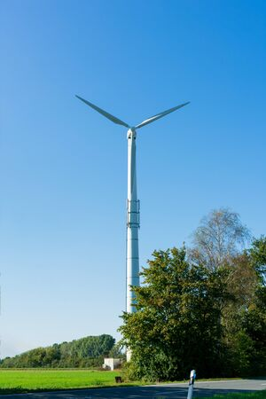 Wind power turbine. Location: Germany, North Rhine-Westphalia, Borken Stockfoto
