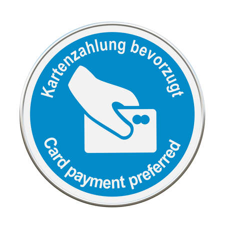 Symbol sign with text in German and English