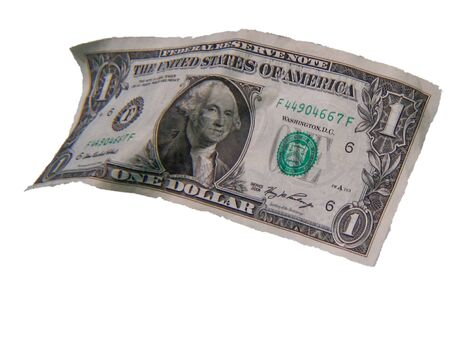 greenback: a seemingly floating American  dollar  bill Stock Photo