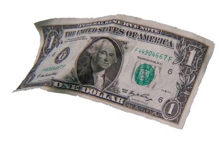 seemingly: a seemingly floating American  dollar  bill Stock Photo
