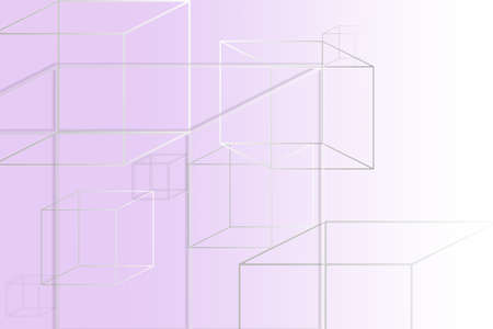Multi-colored square figures on a purple background with a place under the text.
