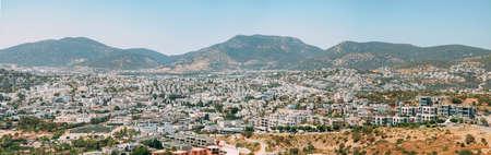 Panoramic view of marina - Bodrum, Turkey.