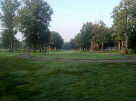 665 yard Par 5 lined up with trees on both sides all the way down