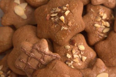 galletas de jengibre: galletas hechas en casa de jengibre Foto de archivo