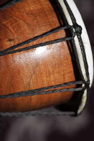 close - up photo of djembe photo