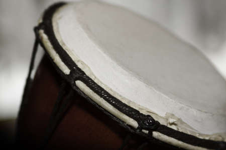 close - up photo of djembe