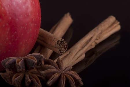 apple, cinnamon and anise Stock Photo - 12915795