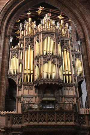 photo of church organ in Chester Catedral