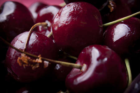 close - up photo  of sweet cherry photo