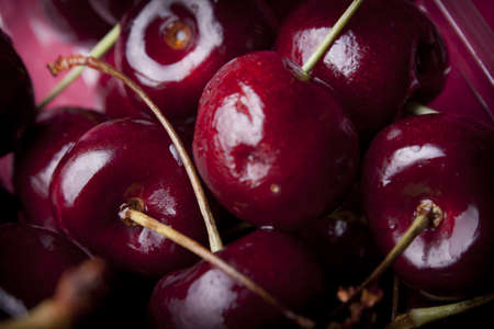 close - up  of sweet cherry photo