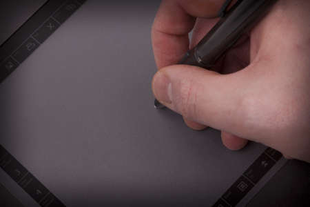 Graphic tablet and hand photo